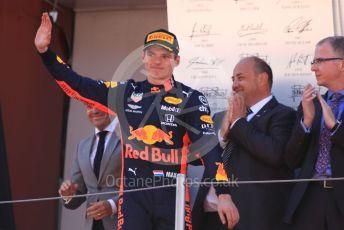 World © Octane Photographic Ltd. Formula 1 – Spanish GP. Podium. Aston Martin Red Bull Racing RB15 – Max Verstappen. Circuit de Barcelona Catalunya, Spain. Sunday 12th May 2019.