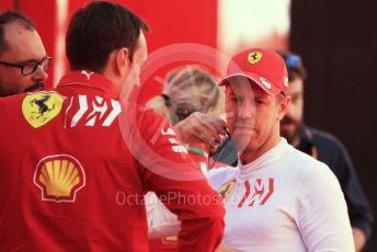 World © Octane Photographic Ltd. Formula 1 – Spanish GP. Parc Ferme. Scuderia Ferrari SF90 – Sebastian Vettel and race engineer Riccardo Adami. Circuit de Barcelona Catalunya, Spain. Sunday 12th May 2019.
