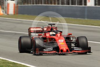 World © Octane Photographic Ltd. Formula 1 – Spanish GP. Race. Scuderia Ferrari SF90 – Sebastian Vettel. Circuit de Barcelona Catalunya, Spain. Sunday 12th May 2019.
