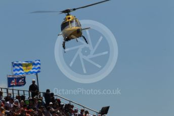 World © Octane Photographic Ltd. Formula 1 – Spanish GP. Race. TV helicopter ready for the start. Circuit de Barcelona Catalunya, Spain. Sunday 12th May 2019.