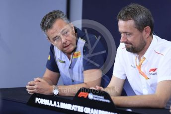 World © Octane Photographic Ltd. Formula 1 – Spanish GP. F2 18inch tyre Press Conference.  Mario Isola – Pirelli Head of F1 and Car Racing. Circuit de Barcelona Catalunya, Spain. Thursday 9th May 2019.