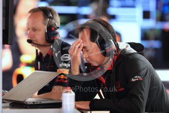 World © Octane Photographic Ltd. Formula 1 - Spanish GP. Paddock. Toyoharu Tanabe - Technical Director at Honda. Circuit de Barcelona Catalunya, Spain. Saturday 11th May 2019.