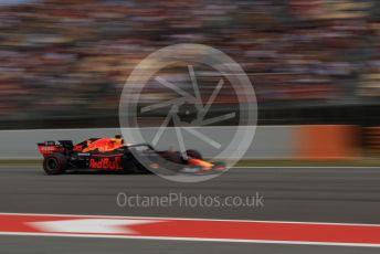 World © Octane Photographic Ltd. Formula 1 – Spanish GP. Qualifying. Aston Martin Red Bull Racing RB15 – Max Verstappen. Circuit de Barcelona Catalunya, Spain. Saturday 11th May 2019.