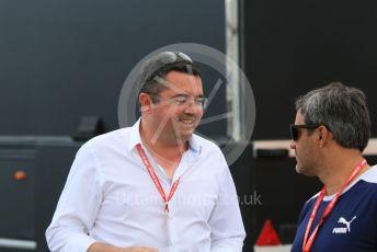 World © Octane Photographic Ltd. Formula 1 – Spanish GP. Qualifying. Eric Boullier. Circuit de Barcelona Catalunya, Spain. Saturday 11th May 2019.