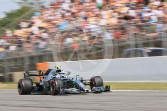 World © Octane Photographic Ltd. Formula 1 – Spanish GP. Qualifying. Mercedes AMG Petronas Motorsport AMG F1 W10 EQ Power+ - Valtteri Bottas. Circuit de Barcelona Catalunya, Spain. Saturday 11th May 2019.