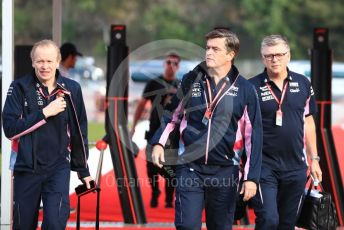 World © Octane Photographic Ltd. Formula 1 - Spanish GP. Friday Paddock. Andy Stevenson – Sporting Director at SportPesa Racing Point and Andrew (Andy) Green - Technical Director at SportPesa Racing Point. Circuit de Barcelona Catalunya, Spain. Friday 10th May 2019.