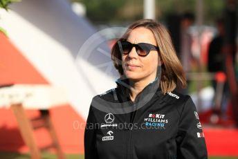 World © Octane Photographic Ltd. Formula 1 - Spanish GP.  Friday Paddock. Claire Williams - Deputy Team Principal of ROKiT Williams Racing. Circuit de Barcelona Catalunya, Spain. Friday 10th May 2019.