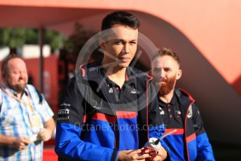 World © Octane Photographic Ltd. Formula 1 – Spanish GP. Friday Paddock. Scuderia Toro Rosso STR14 – Alexander Albon. Circuit de Barcelona Catalunya, Spain. Friday 10th May 2019.