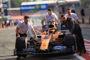 World © Octane Photographic Ltd. Formula 1 – Spanish GP. Paddock. McLaren MCL34. Circuit de Barcelona Catalunya, Spain. Saturday 11thth May 2019.