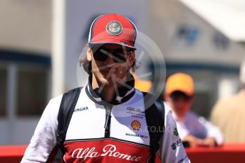 World © Octane Photographic Ltd. Formula 1 – Spanish GP. Paddock. Alfa Romeo Racing C38 – Antonio Giovinazzi. Circuit de Barcelona Catalunya, Spain. Sunday 12th May 2019.