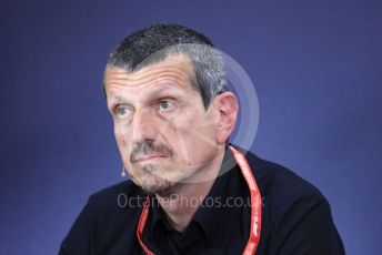 World © Octane Photographic Ltd. Formula 1 – Spanish GP. FIA Team Press Conference. Guenther Steiner  - Team Principal of Rich Energy Haas F1 Team. Circuit de Barcelona Catalunya, Spain. Friday 10th May 2019.