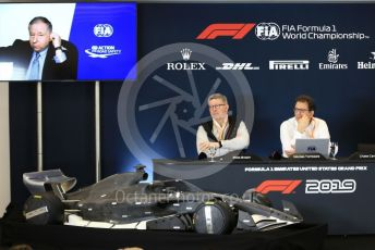 World © Octane Photographic Ltd. Formula 1 - 2021 Regulations Press Conference. Jean Todt – FIA President, Nikolas Tombazis – FIA Head of Single-Seater Technical Matters and Ross Brawn – Managing Director of Formula 1 for Liberty Media. Circuit of the Americas (COTA), Austin, Texas, USA. Thursday 31st October 2019.