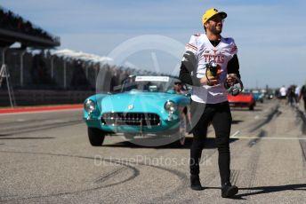 World © Octane Photographic Ltd. Formula 1 – United States GP - Drivers' Parade. Renault Sport F1 Team RS19 – Daniel Ricciardo. Circuit of the Americas (COTA), Austin, Texas, USA. Sunday 3rd November 2019.