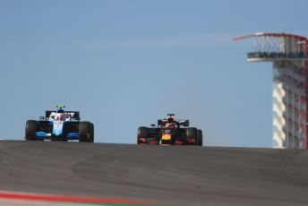 World © Octane Photographic Ltd. Formula 1 – United States GP - Practice 1. ROKiT Williams Racing FW42 – Robert Kubica and Aston Martin Red Bull Racing RB15 – Max Verstappen. Circuit of the Americas (COTA), Austin, Texas, USA. Friday 1st November 2019.