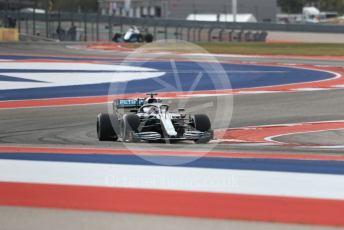 World © Octane Photographic Ltd. Formula 1 – United States GP - Practice 2. Mercedes AMG Petronas Motorsport AMG F1 W10 EQ Power+ - Lewis Hamilton and ROKiT Williams Racing FW 42 – George Russell. Circuit of the Americas (COTA), Austin, Texas, USA. Friday 1st November 2019.