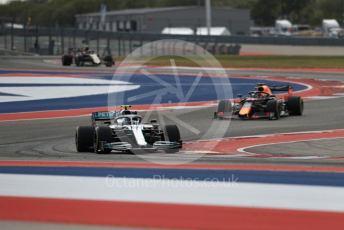World © Octane Photographic Ltd. Formula 1 – United States GP - Practice 2. Mercedes AMG Petronas Motorsport AMG F1 W10 EQ Power+ - Valtteri Bottas and Aston Martin Red Bull Racing RB15 – Max Verstappen. Circuit of the Americas (COTA), Austin, Texas, USA. Friday 1st November 2019.