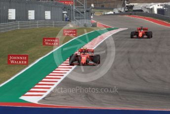 World © Octane Photographic Ltd. Formula 1 – United States GP - Practice 2. Scuderia Ferrari SF90 – Charles Leclerc and Sebastian Vettel. Circuit of the Americas (COTA), Austin, Texas, USA. Friday 1st November 2019.