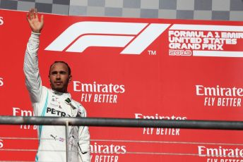 World © Octane Photographic Ltd. Formula 1 – United States GP - Podium. Mercedes AMG Petronas Motorsport AMG F1 W10 EQ Power+ - Lewis Hamilton. Circuit of the Americas (COTA), Austin, Texas, USA. Sunday 3rd November 2019.