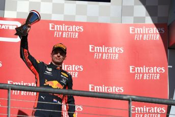World © Octane Photographic Ltd. Formula 1 – United States GP - Podium. Aston Martin Red Bull Racing RB15 – Max Verstappen. Circuit of the Americas (COTA), Austin, Texas, USA. Sunday 3rd November 2019.