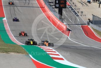 World © Octane Photographic Ltd. Formula 1 – United States GP - Race. McLaren MCL34 – Lando Norris and Renault Sport F1 Team RS19 – Daniel Ricciardo. Circuit of the Americas (COTA), Austin, Texas, USA. Sunday 3rd November 2019.