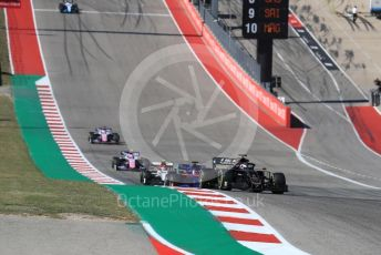World © Octane Photographic Ltd. Formula 1 – United States GP - Race. Haas F1 Team VF19 – Romain Grosjean and Scuderia Toro Rosso STR14 – Daniil Kvyat. Circuit of the Americas (COTA), Austin, Texas, USA. Sunday 3rd November 2019.