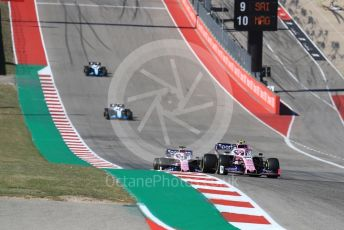 World © Octane Photographic Ltd. Formula 1 – United States GP - Race. SportPesa Racing Point RP19 – Lance Stroll and Sergio Perez. Circuit of the Americas (COTA), Austin, Texas, USA. Sunday 3rd November 2019.