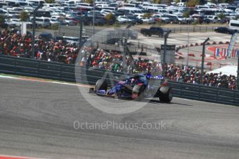 World © Octane Photographic Ltd. Formula 1 – United States GP - Race. Scuderia Toro Rosso STR14 – Pierre Gasly. Circuit of the Americas (COTA), Austin, Texas, USA. Sunday 3rd November 2019.