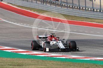 World © Octane Photographic Ltd. Formula 1 – United States GP - Race. Alfa Romeo Racing C38 – Kimi Raikkonen. Circuit of the Americas (COTA), Austin, Texas, USA. Sunday 3rd November 2019.