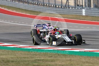 World © Octane Photographic Ltd. Formula 1 – United States GP - Race. Alfa Romeo Racing C38 – Antonio Giovinazzi and SportPesa Racing Point RP19 - Sergio Perez. Circuit of the Americas (COTA), Austin, Texas, USA. Sunday 3rd November 2019.