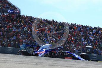 World © Octane Photographic Ltd. Formula 1 – United States GP - Race. Scuderia Toro Rosso STR14 – Pierre Gasly. Circuit of the Americas (COTA), Austin, Texas, USA. Sunday 3rd November 2019.