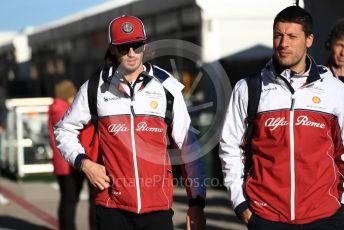 World © Octane Photographic Ltd. Formula 1 – United States GP - Paddock. Alfa Romeo Racing C38 – Antonio Giovinazzi. Circuit of the Americas (COTA), Austin, Texas, USA. Friday 1st November 2019.