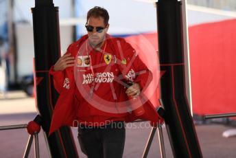 World © Octane Photographic Ltd. Formula 1 – United States GP - Paddock. Scuderia Ferrari SF90 – Sebastian Vettel. Circuit of the Americas (COTA), Austin, Texas, USA. Friday 1st November 2019.