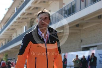 World © Octane Photographic Ltd. Formula 1 - United States GP - Paddock. James Key – Technical Director McLaren. Circuit of the Americas (COTA), Austin, Texas, USA. Saturday 2nd November 2019.