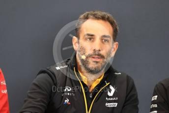 World © Octane Photographic Ltd. Formula 1 - United States GP – Friday FIA Team Press Conference. Cyril Abiteboul - Managing Director of Renault Sport Racing Formula 1 Team. Circuit of the Americas (COTA), Austin, Texas, USA. Friday 1st November 2019.