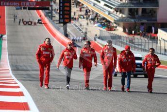World © Octane Photographic Ltd. Formula 1 – United States GP - Track Walk. Scuderia Ferrari SF90 – Sebastian Vettel. Circuit of the Americas (COTA), Austin, Texas, USA. Thursday 31st October 2019.