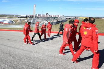 World © Octane Photographic Ltd. Formula 1 – United States GP - Track Walk. Scuderia Ferrari SF90 – Charles Leclerc. Circuit of the Americas (COTA), Austin, Texas, USA. Thursday 31st October 2019.