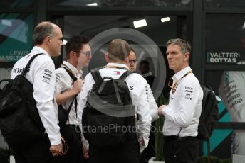 World © Octane Photographic Ltd. Formula 1 – F1 Australian Grand Prix breakdown. James Allison - Technical Director of Mercedes - AMG Petronas Motorsport and team ready to leave. Melbourne, Australia. Friday 13th March 2020.