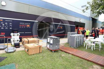 World © Octane Photographic Ltd. Formula 1 – F1 Australian Grand Prix breakdown. Aston Martin Red Bull Racing. Melbourne, Australia. Friday 13th March 2020.