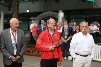 World © Octane Photographic Ltd. Formula 1 - Hungarian GP – Friday FIA Special Press Conference. Melbourne, Australia. Michael Masi – FIA Race Director and Safety Delegate, Andrew Westacott - Australian Grand Prix Corporation CEO and Paul Little - Australian Grand Prix Corporation Chairman. Friday 13th March 2020.