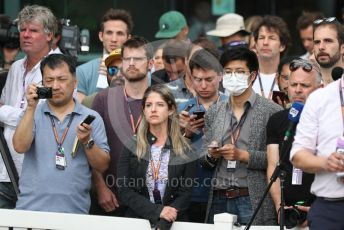 World © Octane Photographic Ltd. Formula 1 - Hungarian GP – the media attending the Friday FIA Special Press Conference. Melbourne, Australia. Friday 13th March 2020.