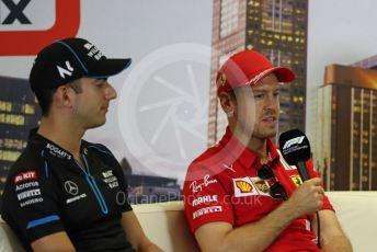 World © Octane Photographic Ltd. Formula 1 – F1 Australian Grand Prix - FIA drivers' press conference. ROKiT Williams Racing FW43 – Nicholas Latifi and Scuderia Ferrari SF1000 – Sebastian Vettel. Melbourne, Australia. Thursday 12th March 2020.