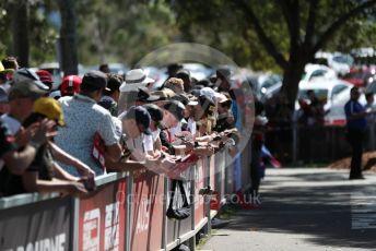 World © Octane Photographic Ltd. Formula 1 – F1 Australian Grand Prix – Fans at the Melbourne walk. Melbourne, Australia. Thursday 12th March 2020.