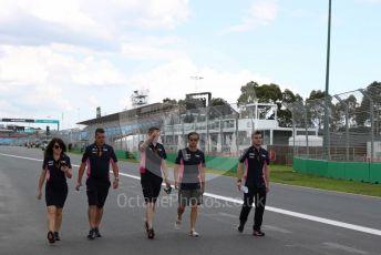 World © Octane Photographic Ltd. Formula 1 – F1 Australian Grand Prix - Track Walk. BWT Racing Point F1 Team RP20 - Sergio Perez. Melbourne, Australia. Wednesday 11th March 2020.