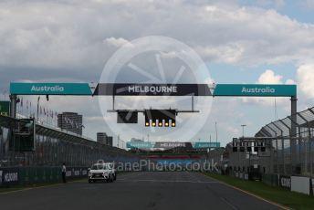 World © Octane Photographic Ltd. Formula 1 – F1 Australian Grand Prix - Setup. Start light gantry. Melbourne, Australia. Wednesday 11th March 2020.