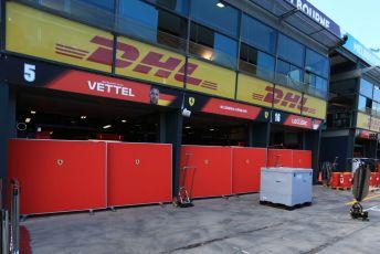 World © Octane Photographic Ltd. Formula 1 – F1 Australian Grand Prix - Setup. Scuderia Ferrari garage – Sebastian Vettel and Charles Leclerc. Melbourne, Australia. Wednesday 11th March 2020.