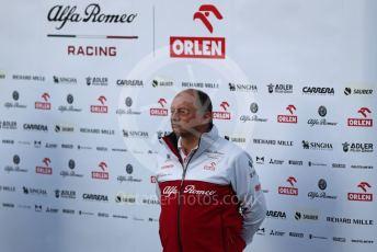 World © Octane Photographic Ltd. Formula 1 – F1 Pre-season Test 1 - Day 1. Frederic Vasseur – Team Principal and CEO of Alfa Romeo Racing Orlen. Circuit de Barcelona-Catalunya, Spain. Wednesday 19th February 2020.