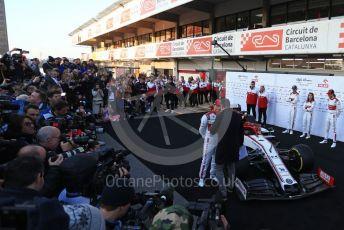 World © Octane Photographic Ltd. Formula 1 – F1 Pre-season Test 1 - Day 1. Alfa Romeo Racing Orlen C39 – Kimi Raikkonen and Antonio Giovinazzi. . Circuit de Barcelona-Catalunya, Spain. Wednesday 19th February 2020.