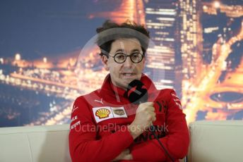 World © Octane Photographic Ltd. Formula 1 – F1 Pre-season Test 2 - Day 1 - Press Conference 2. Mattia Binotto – Team Principal of Scuderia Ferrari. Circuit de Barcelona-Catalunya, Spain. Wednesday 26th February 2020.