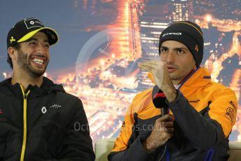 World © Octane Photographic Ltd. Formula 1 – F1 Pre-season Test 2 - Day 1 - Press Conference 1. Renault Sport F1 Team – Daniel Ricciardo and McLaren – Carlos Sainz. Circuit de Barcelona-Catalunya, Spain. Wednesday 26th February 2020.