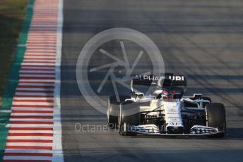 World © Octane Photographic Ltd. Formula 1 – F1 Pre-season Test 1 - Day 3. Scuderia AlphaTauri Honda AT01 – Daniil Kvyat. Circuit de Barcelona-Catalunya, Spain. Friday 21st February 2020.